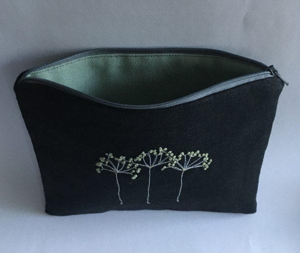 Black Zipped Linen Pouch (Mint Green) - BCB5E513 85E0 4089 A070 A749E3D65171 1 201 a