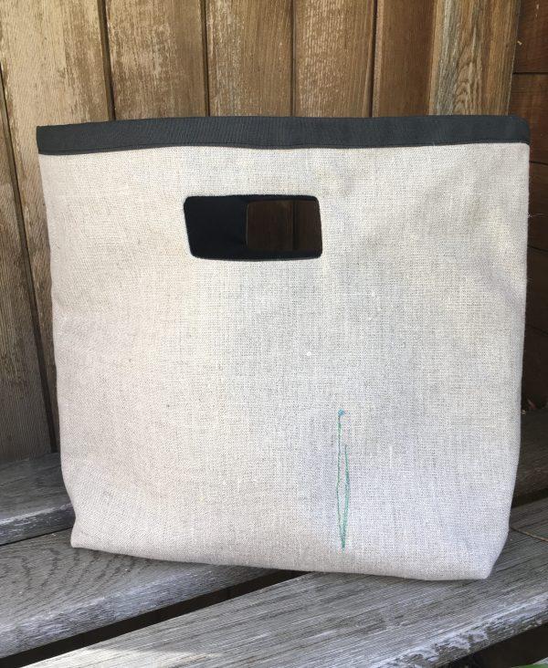 Linen Shopper Bag - embroidered flowers - BD8CEBEA 20EE 484C BD9B 6A55B551C3ED 1 201 a