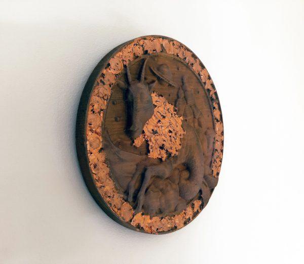 Capricorn Wood Carving