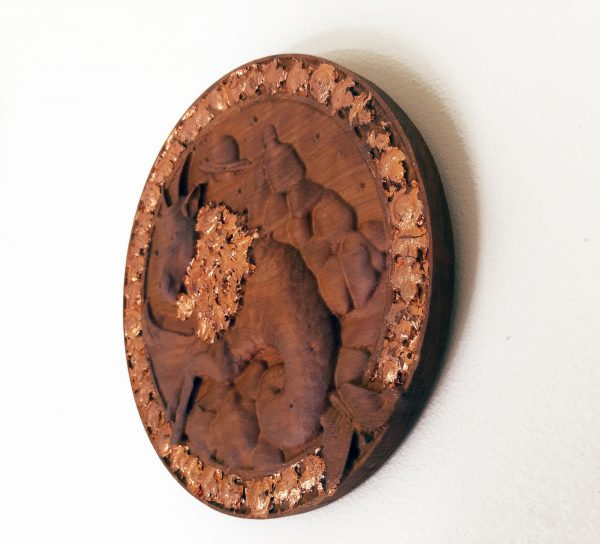 Capricorn Wood Carving - Capricorn 3