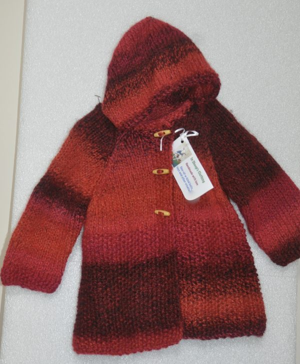 Little Red Riding Hood! Gorgeous knitted child's coat - DSC 0364