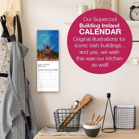 Building Ireland 2021 Calendar - DUBLIN CAL VISUAL IN ROOM with caption