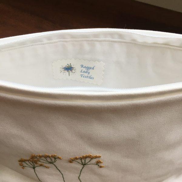 Cotton Zipped Pouch (white) - F31EFC17 3E3F 42A4 A98D 830833DBE414 rotated