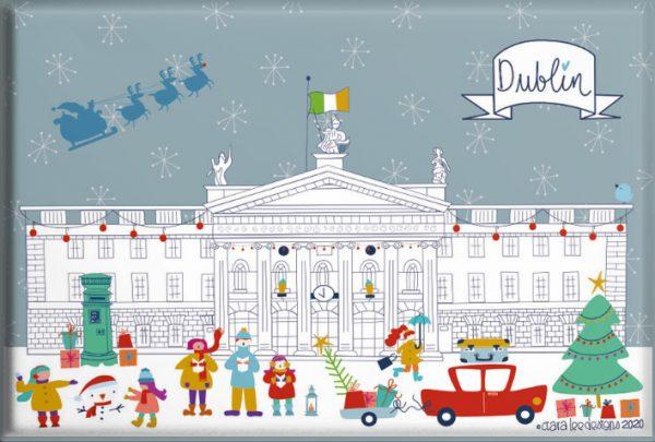 Dublin City Christmas Magnet