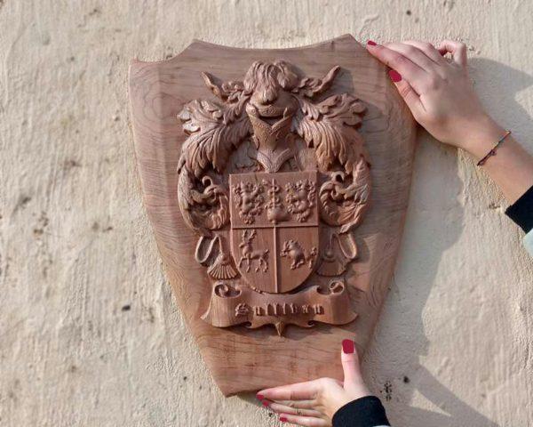 Irish Handcrafted Family Crest & Shield