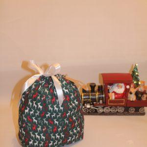Green Reindeer Christmas Gift Bag