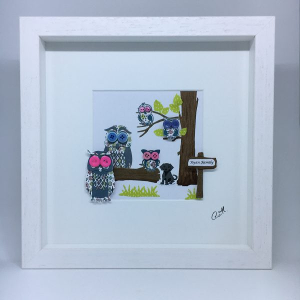 Personalised Owl Family Frame