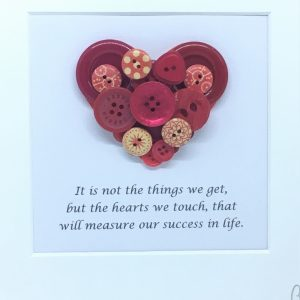 Success in Life Heart ButtonPic