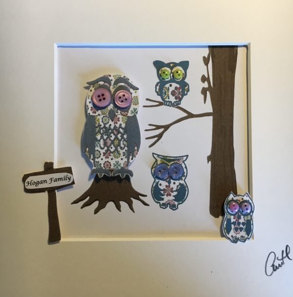 Personalised Owl Family Frame - IMG E6232 scaled