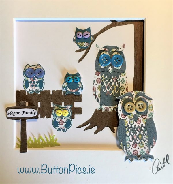 Personalised Owl Family Frame - IMG E6250