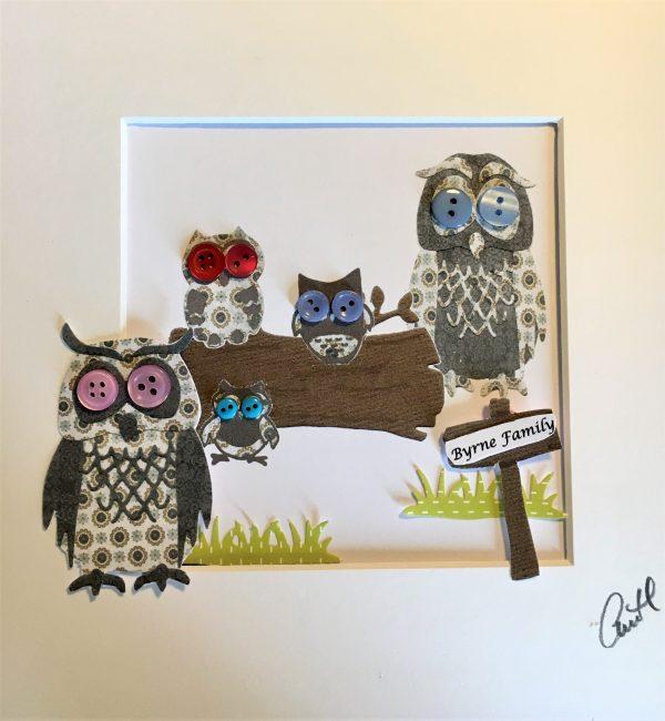 Personalised Owl Family Frame - IMG E6261 scaled