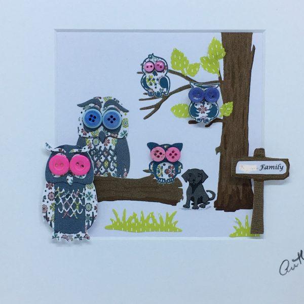 Personalised Owl Family Frame - IMG E6324