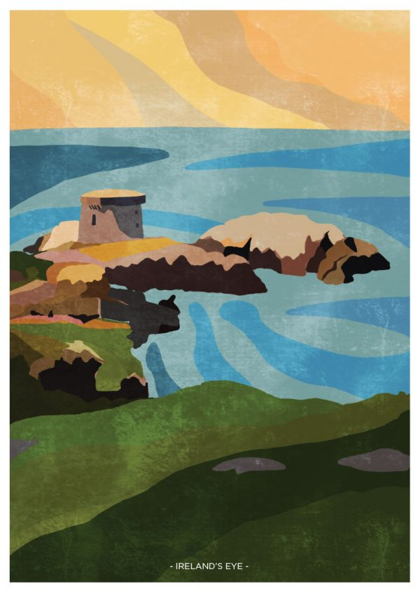 Ireland's Eye Wall Print