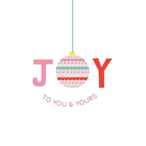 Joy Christmas Card - JoyChristmasCard detail