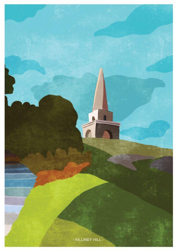 Killiney Hill Wall Print