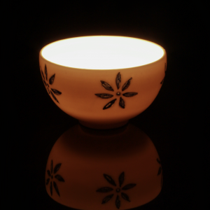 Nightlight bowl with flower design