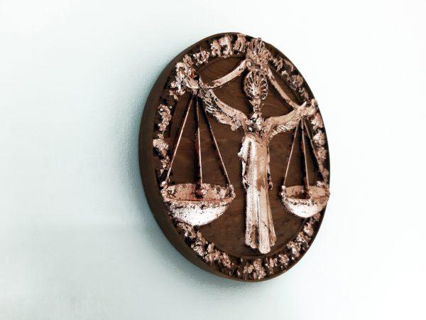 Libra Wood Carving