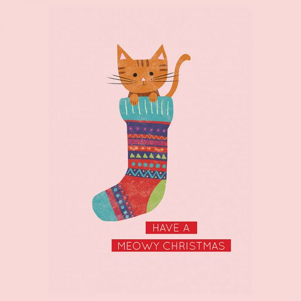 Have a MEOWY Christmas - MeowyChristmasCard detail