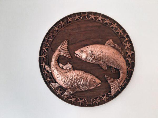 Pisces Wood Carving - Pieces 1