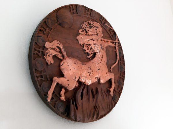 Sagittarius Wood Carving - Sagittarius 2