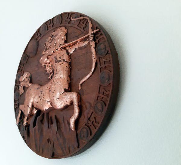 Sagittarius Wood Carving