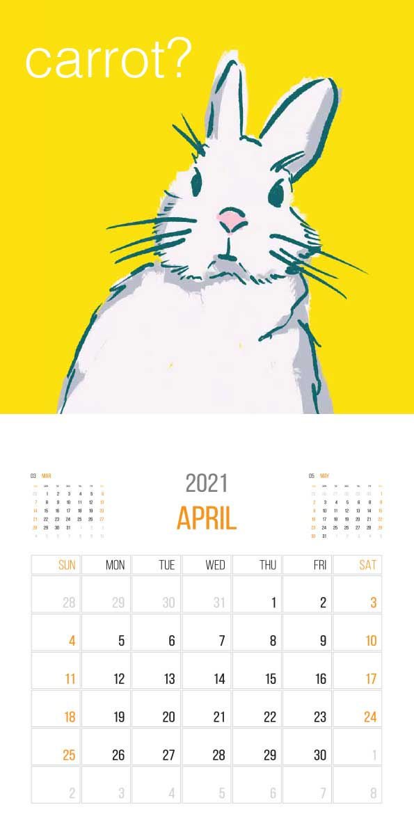 The Things Animals Think 2021 Calendar - animals think cal apr