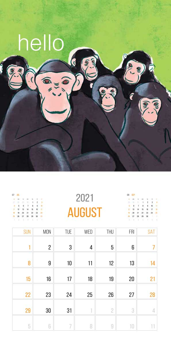 The Things Animals Think 2021 Calendar - animals think cal aug