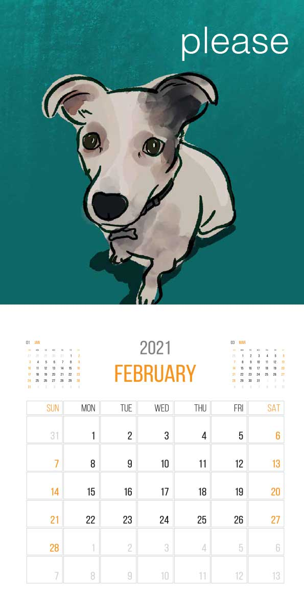 The Things Animals Think 2021 Calendar - animals think cal feb