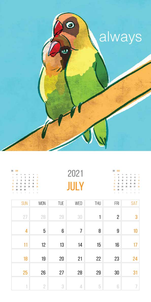 The Things Animals Think 2021 Calendar - animals think cal july