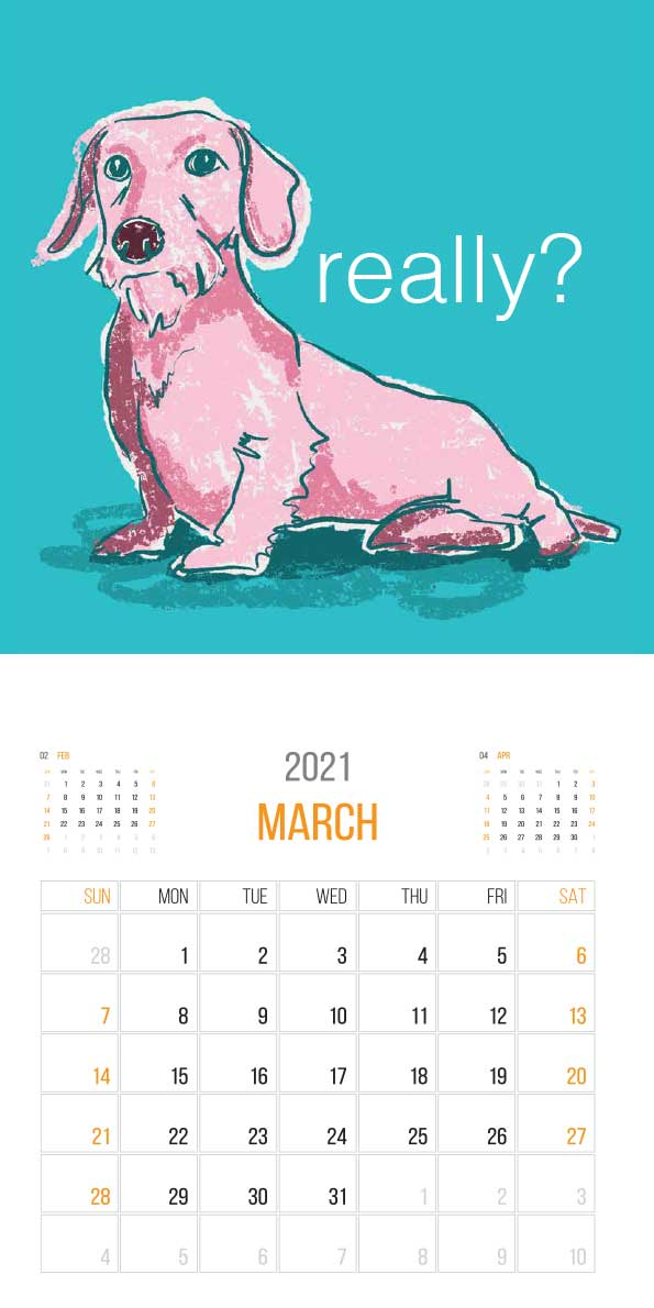 The Things Animals Think 2021 Calendar - animals think cal mar