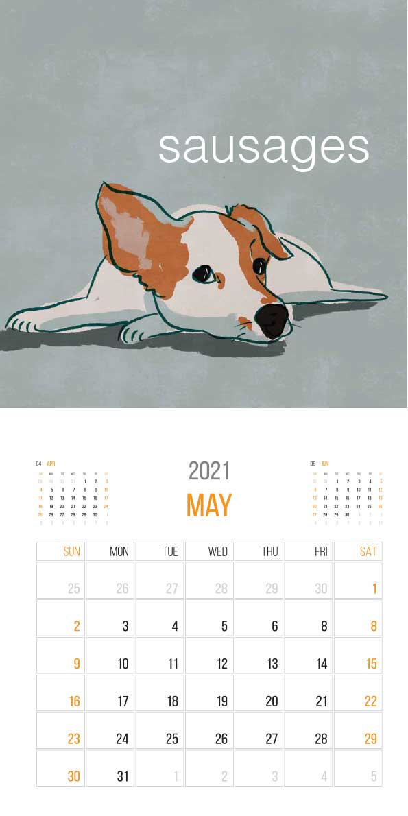 The Things Animals Think 2021 Calendar - animals think cal may