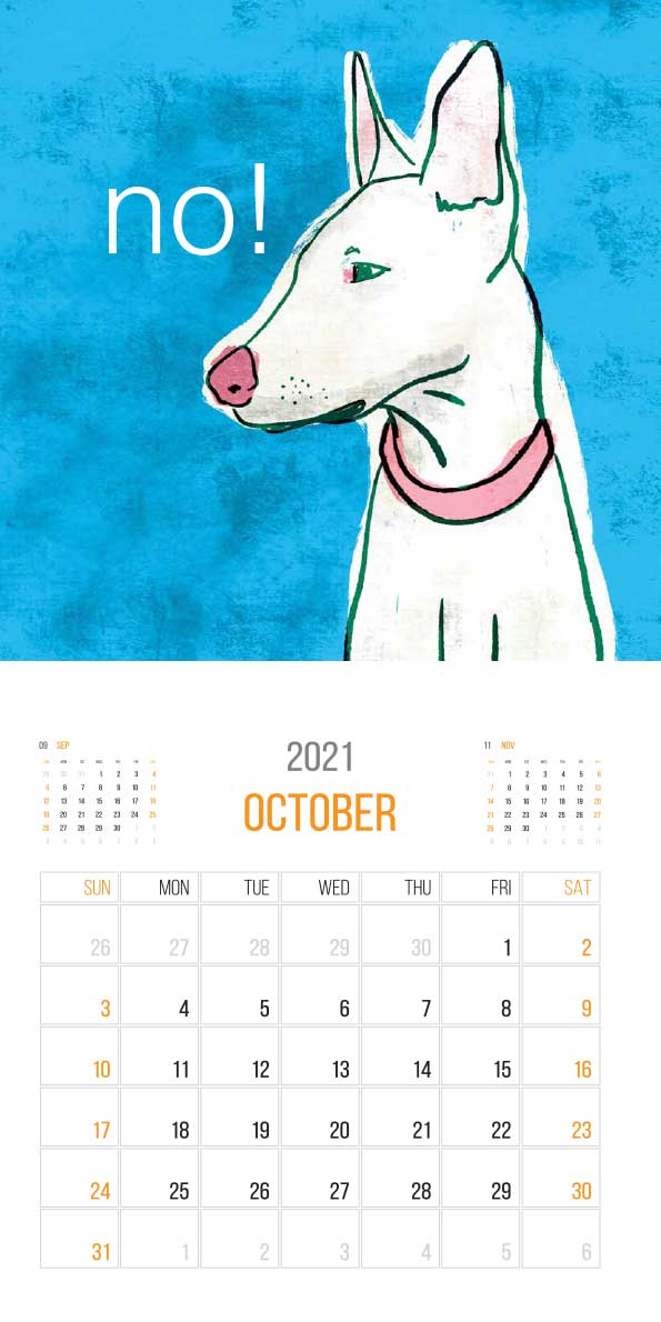 The Things Animals Think 2021 Calendar - animals think cal oct