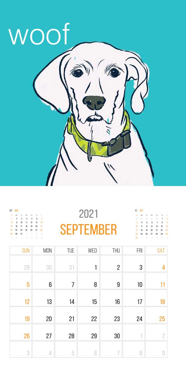 The Things Animals Think 2021 Calendar - animals think cal sep