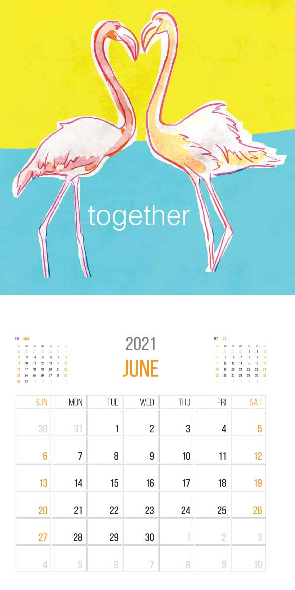 The Things Animals Think 2021 Calendar - animals think june