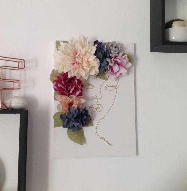 Flower Canvas With Face Silhouette - fullsizeoutput 9e