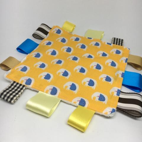 Sensory Blanket Elephant Yellow