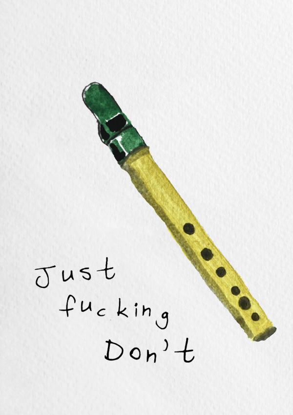 Tin Whistle Wall Print - jsut dont