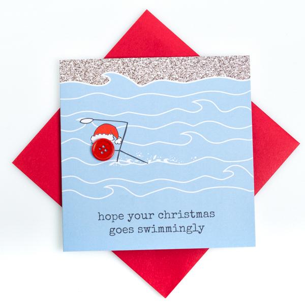 Christmas Swim Card