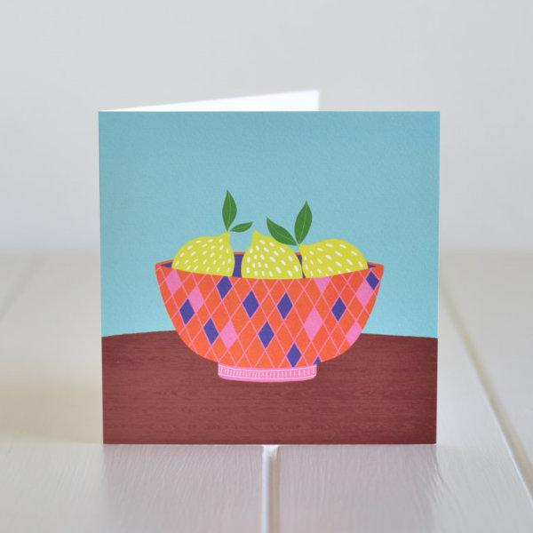 Greeting Card - Lemons in a bowl