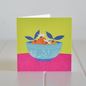 Greeting Card - Oranges in a bowl