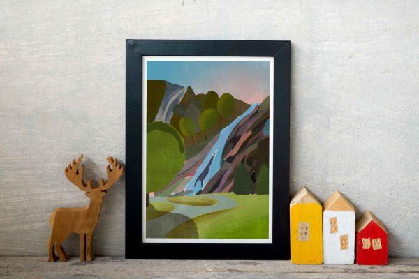 Powerscourt Waterfall Print - powerscourt visual