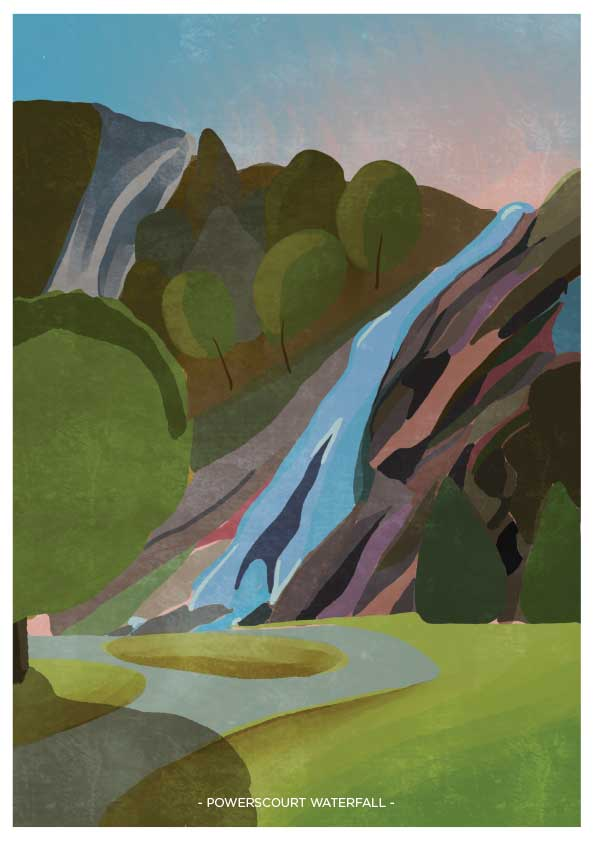 Powerscourt Waterfall Print