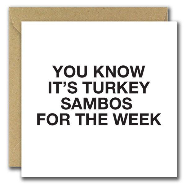 Turkey Sambos christmas card