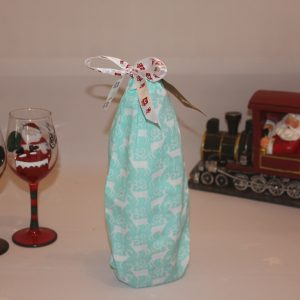 Aqua Blue Festive Wine Gift Bag