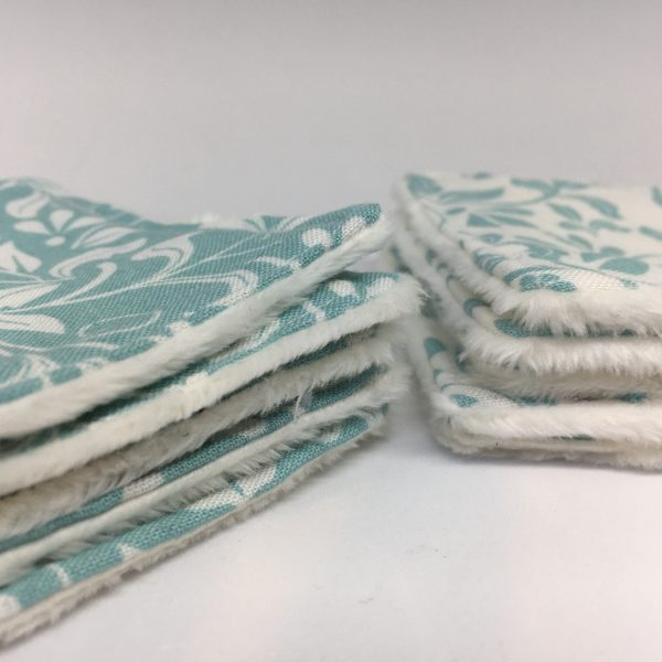 Reusable Wipes Floral (Teal) - 05C1EB0A A64B 4A57 ADD6 FD02434AD784