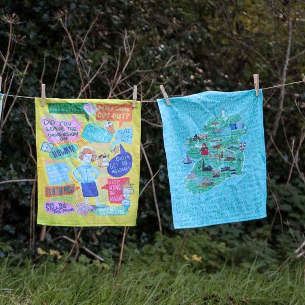 It's an Irish Thing Tea Towel - 2 teatowels outdoors 1