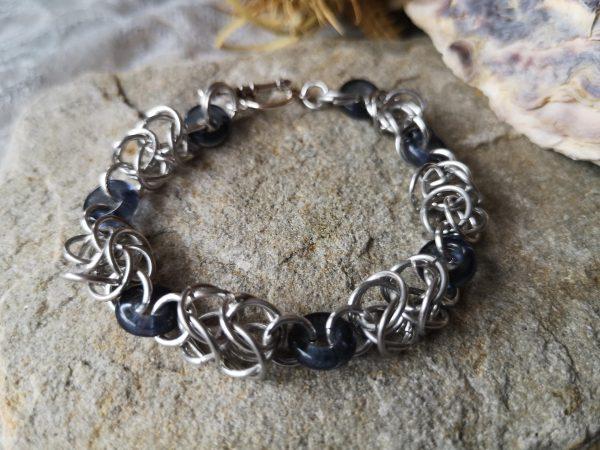 Byzantine Linked Chainmaille Bracelet - 2019 06 26 12.44.09