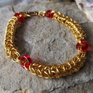 Byzantine linked Chainmaille Bracelet
