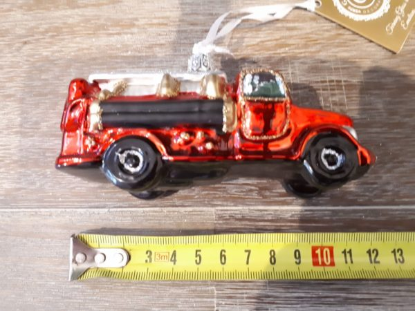 Fire engine Glass Christmas Tree Decoration - 20200922 084757