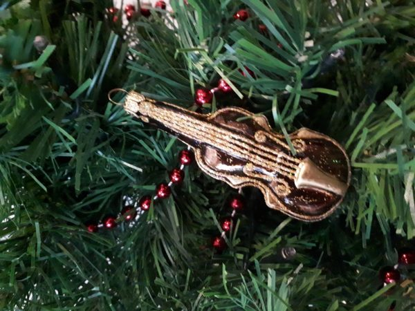Glass Violin, handmade Christmas tree decoration - 20200922 091445